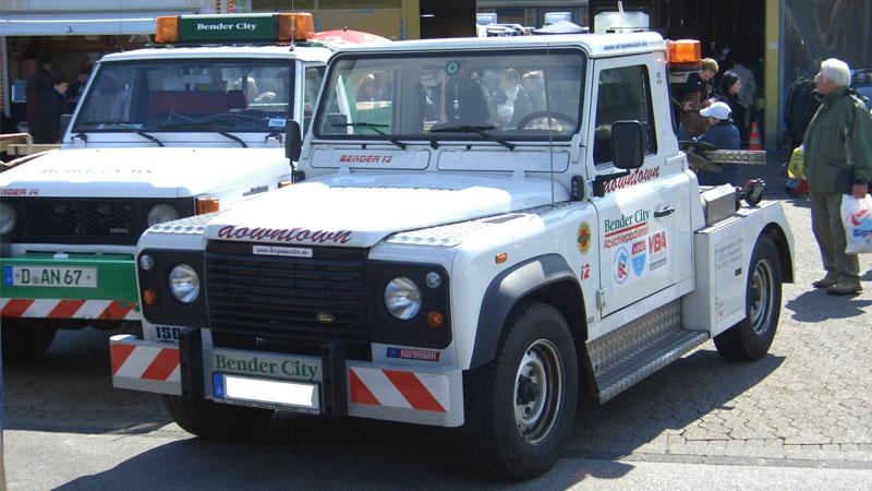 Land Rover: aquellas grúas pioneras