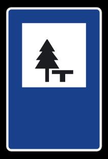 señal de área de descanso